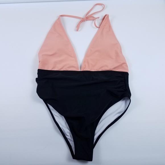 8d8794244e Cupshe Swim   Fragrant Memory Halter Bikini Set Peach   Poshmark